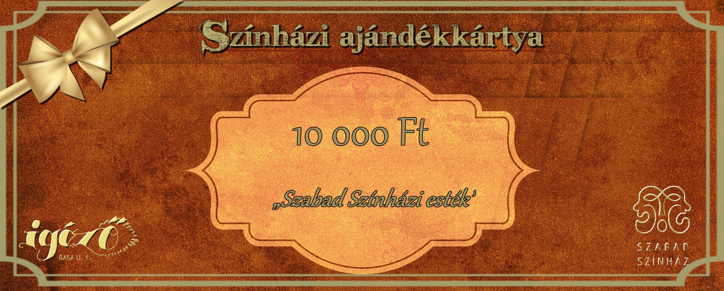 Szabad Színházi esték- ajándékkártya 10.000