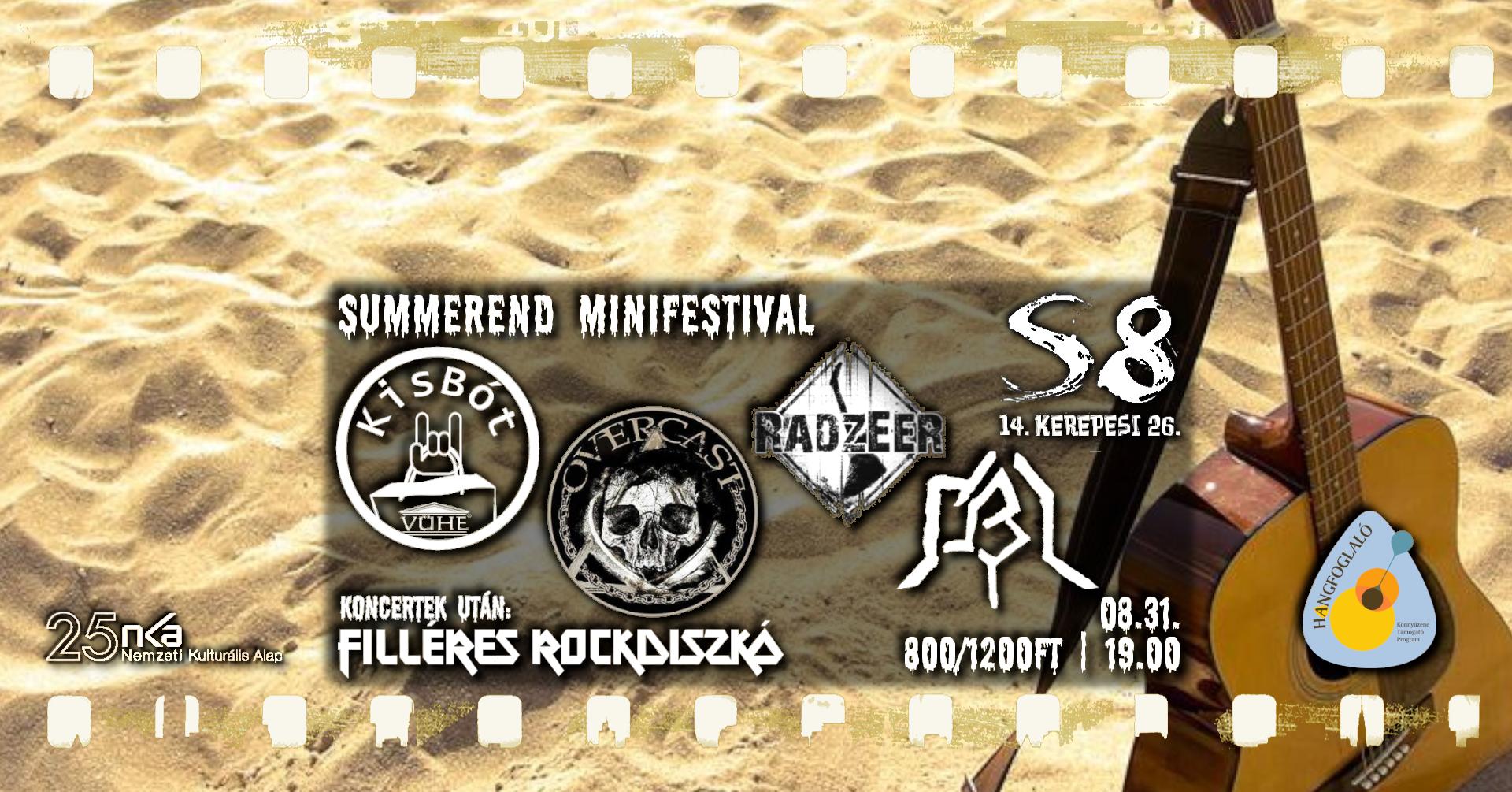 SummerEnd Minifestival - Kisbót I OBI I Radzeer I Overcast