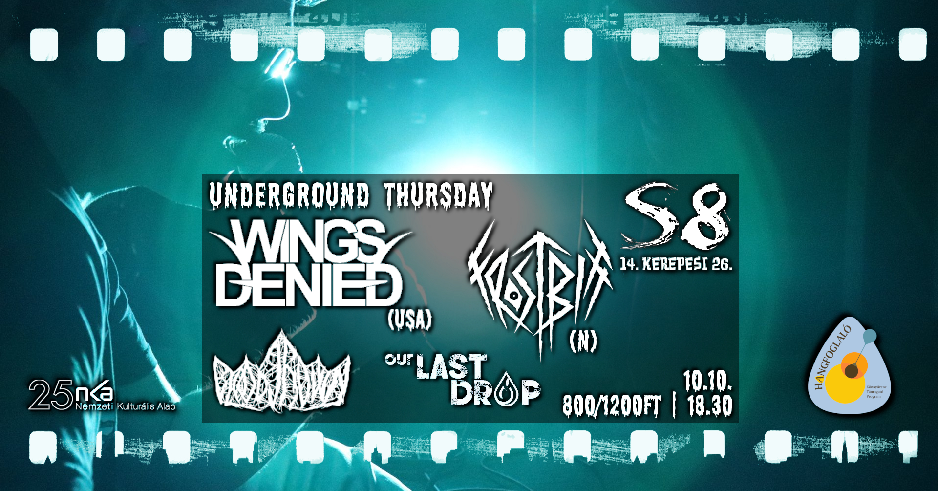Wings Denied [USA] I Frostbitt [N] I Our Last Drop I Bloodcrown