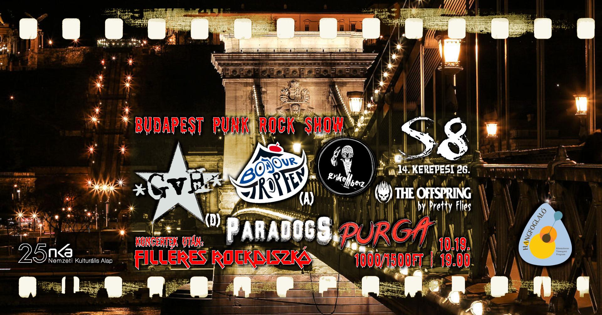 Budapest Punk Rock Show - S8 I GvH - Gisela von Hinten [D] I Bonjour Tropfen [A]