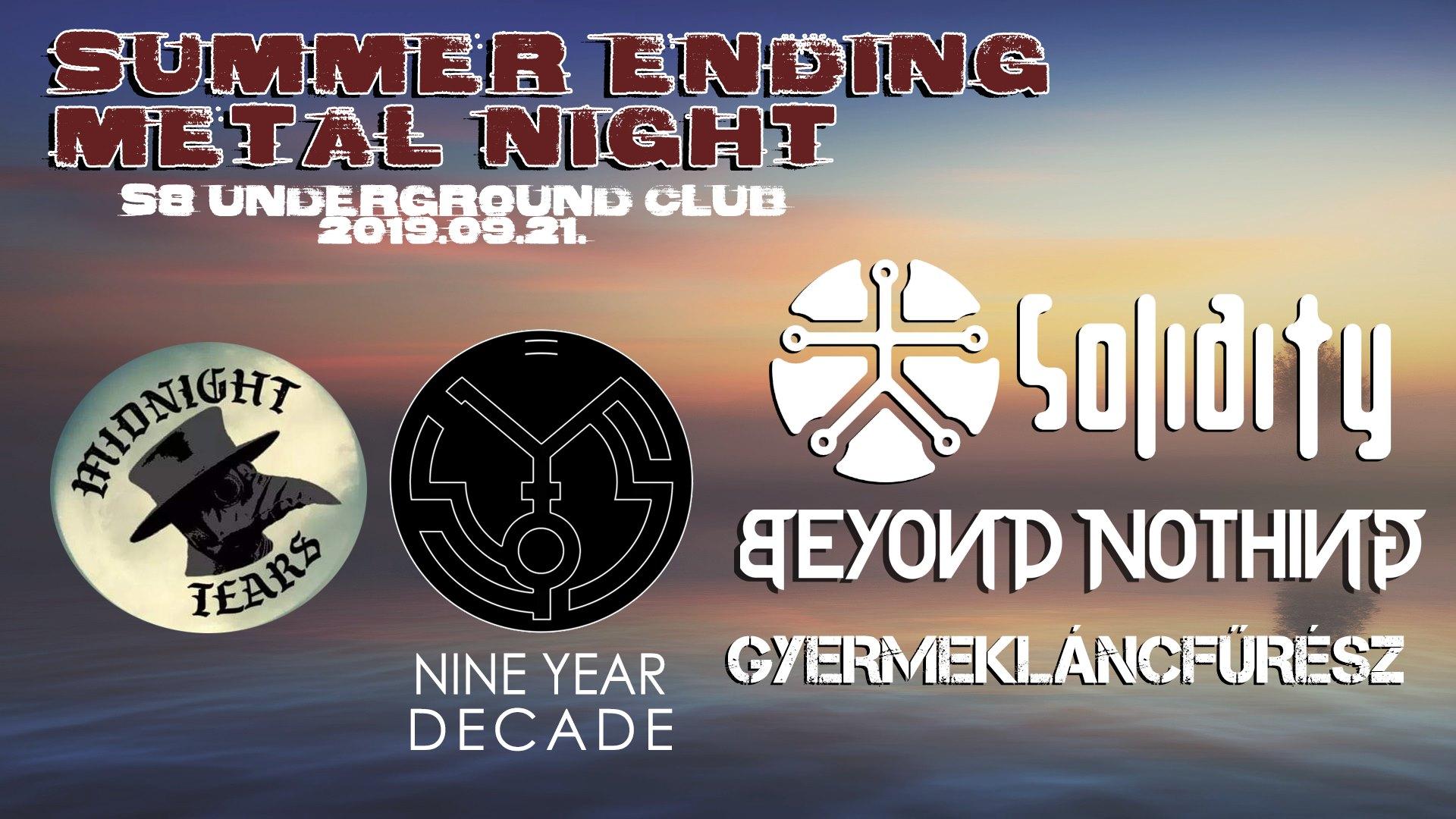 Summer Ending Metal Night