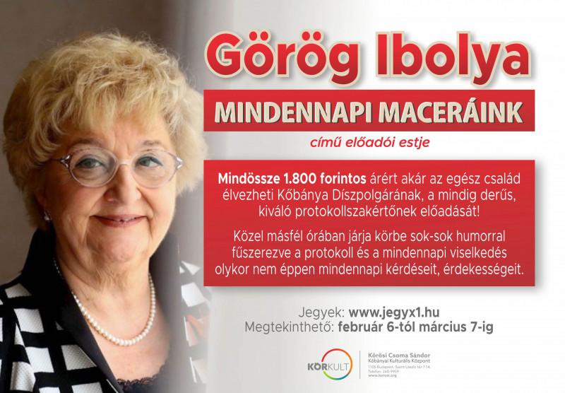 """Görög Ibolya """"Mindennapi maceráink"""" című ONLINE előadói estje"""
