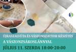 Vászontáska és újraszalvéta dekoráló workshop a Vászonzsákoslánnyal